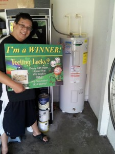 1 in 10 water heater winner